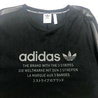 Adidas Limited Edition Plus Size US 2XL Black Mens Crew Neck T-Shirt - Like New