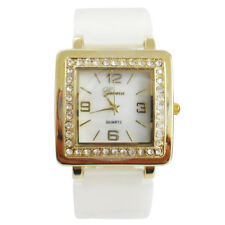 Geneva Ladies Quartz Analog Fashion Watch GENV-159 White