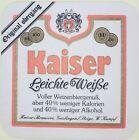 alter Bierdeckel KAISER Brauerei , Geislingen/ Steige W. Kumpf 🍺 K-10