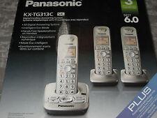 Panasonic 3 Handsets Cordless Phones DECT 6.0 Answering System KX-TG313C