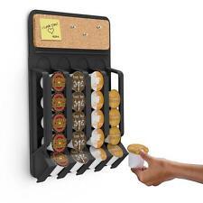 K-Cup Wall Mount Storage Rack Fridge Holder Tray Black Keurig Coffee Dispenser