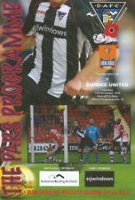 Dunfermline Scottish Cups Home Teams C-E Football Programmes