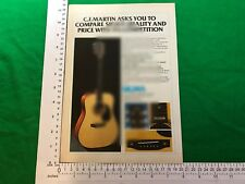 "SigmaC.F. Martin D10 acoustic guitar limited edition vintage advert 1980 D-""10"""