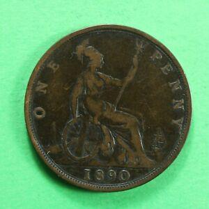 1890 Queen Victoria Penny SNo18956