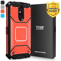 For LG Aristo 4 Plus/Escape Plus/K30 2019 Phone Case TJS TankMate+Tempered Glass
