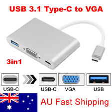 USB 3.1 Type C to OTG & USB-C VGA & USB Female Charger HUB Adapter 2016 MacBook