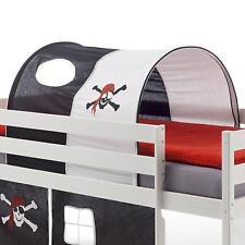 Tunnel PIRATE, blanc/noir pour lit enfant surélevé mi-hauteur
