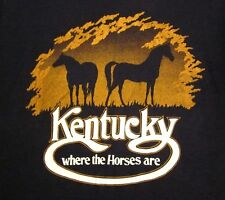 KENTUCKY country pride T shirt med Where the Horses Are logo T shirt 1970s