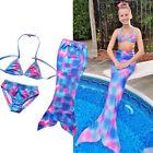Chica Niños Verano Cola De Sirena Nadar Set Bikini Traje Baño
