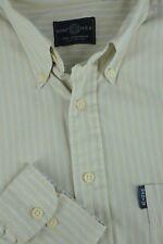 Gant Uomo Popeline Uomo Taupe & a Righe Blu Camicia Casual XL