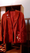 Veste vintage cuir orange taille 42