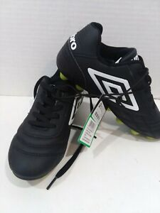 Umbro Finale Soccer Cleats Shoes Youth Size 1 Black Neon Green, New!