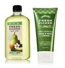 Bath & Body Works Retired Fresh Picked Pear Hard Working Body Cream & Wash