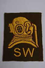 British Army - Diver Shallow Water - Traditional Felt Sew On Patch -  No142