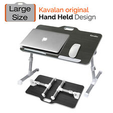 Kavalan Portable Laptop Table with Handle Angle Adjustable Stand Desk,Black DK12
