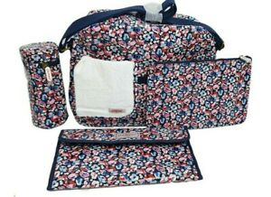 Cath Kidston Zip Changing Bag Sketchbook Ditsy Navy Colour New with Tag