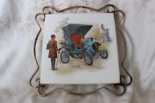 Fiat 1901 Ceramic Hot Pot Holder Tile tuile en bois-Pot Trépied stand