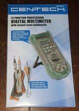 Cen Tech 14 Function Prof Digital Multimeter Withsound Level Luminosity 98674