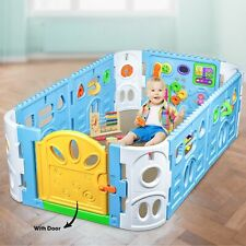 Rectangle Baby Playpen with Door | Interactive Baby Playpen with Gate 1.6m x 1m