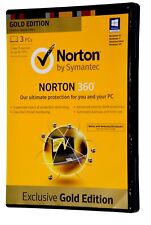 Norton 360 Exclusive Gold Edition V6 6.0 Windows 7, Vista, XP Virus Software CD