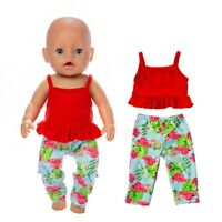 Baby New Born Doll Clothes Fit 17 inch 43cm 2-piece Suit Girls Birthday Gifts