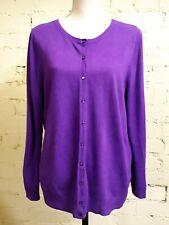 BHS purple cardigan, size 18, super soft & light, button front, fab condition!