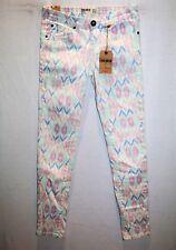 Cotton ON Colour Brand Pastel Diamond Aztec Skinny Leg Jeans Size 8 BNWT #SH104