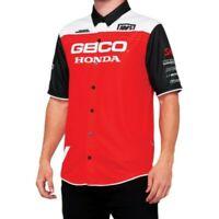 100% Geico Honda Blitz Team Pit Crew Shirt for Motorcycle Street Riding