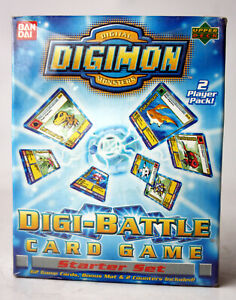DIGIMON DIGI-BATTLE CARD GAME STARTER SET BANDAI UPPER DECK NEW SEALED !