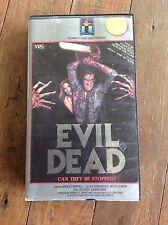 VHS VIDEO CASSETTE ORIGINAL. EVIL DEAD FILMWAYS HOME VIDEO RARE HORROR RATED R