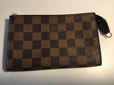 Authentic Louis Vuitton Damier Ebene Portamonete Porta Carte Portafoglio a Zip