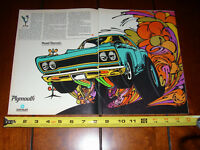 1968 PLYMOUTH ROAD RUNNER  ***ORIGINAL 2 PAGE AD***