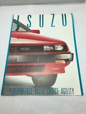 1988 isuzu  Sales Brochure 2 pages