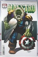 💥🟢 MAESTRO #1 GEORGE PEREZ 1:25 VARIANT NM INCREDIBLE HULK Future Imperfect