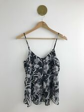 Forever New Floral Cami Size 6 Black Sleeveless Frill Layered Beautiful Top