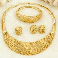 Weizen Afrikanischer Türkische Damen Schmuck Braut Halskette Ohrringe Gold Sets