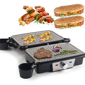 180° Fold-Out Electric Grill Machine Panini Press Sandwich Toaster Maker 1500 W