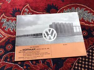 Vintage Rare Sales Brochure Volkswagen VW Beetle Split Window Max Hoffman 1951