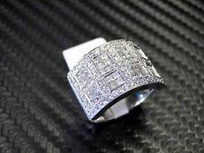 WOMENS DIAMOND RING 18K WHITE GOLD ROUND CUT PRINCESS