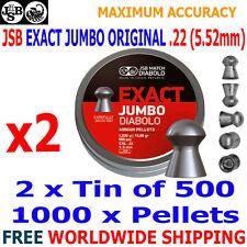 JSB EXACT JUMBO ORIGINAL .22 5.52mm Airgun Pellets 2(tin)x500pcs