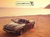 1984 1985 Pininfarina IAI Azzurra Spider Fiat 1-page Original Car Sales Brochure