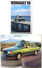 Renault 18 Saloon GTS TS GTL TL 1979-80 Dutch Brochure