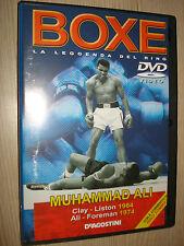 DVD BOXE LA LEGGENDA DEL RING MUHAMMAD ALI VS LISTON 1964 VS FOREMAN 1974