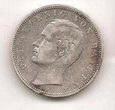 German Bavaria Bayern 0.900 Silver coin 1895 5 Mark XF