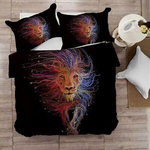 Digital Print Lion Soft 1000TC Quilt Duvet Doona Cover Set Double/Queen/King