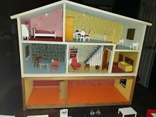 Vintage lundby dollhouse with furniture and accessories