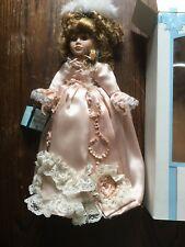 Poupee En Porcelaine Hand Made Marquise Of Pompadour Vintage Doll