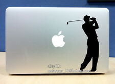 Golf club Apple decal (BLACK) quality vinyl sticker Macbook Pro Air 13in 15