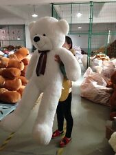 "63""GIANT HUGE BIG STUFFED ANIMAL WHITE TEDDY BEAR PLUSH SOFT TOY 160CM"