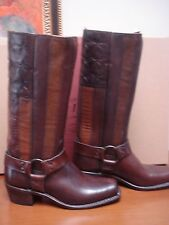 FRYE HARNESS BOOTS AMERICANA STITCHED AMERICAN FLAG 7 NEW 690.00